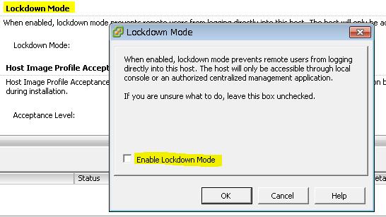 Lockdown Modeの項目のEditボタンを押し、チェックボックスをオンにする