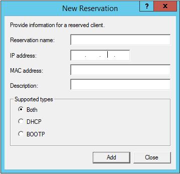 DHCPでIP Reservationするさいに必要な項目