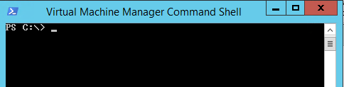 Virtual Machine Manager Command Shellを立ち上げる