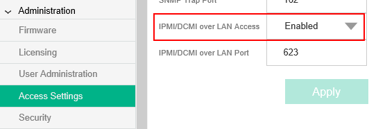 IPMI/DCMI over LAN AccessをDisableにする