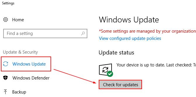 Windows Updateから,更新プログラムのチェックを行う