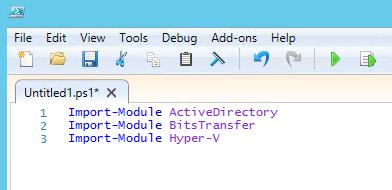 Import-Moduleを複数行で書く方法