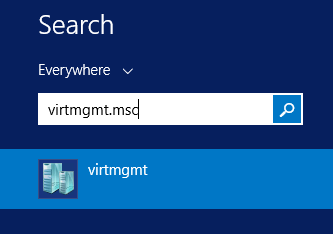 virtmgmt.mscと入力すると,確実にHyper-V Managerを立ち上げられる