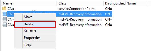 該当のBitLockerパスワードを日付などから特定し,右クリックから削除する。