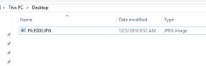 ファイルが正しく復元された。