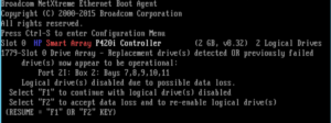 Logical drives disabled due to possible data loss