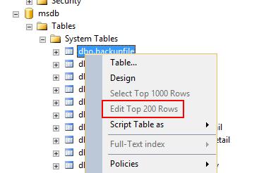 右クリックすると「上位200行の編集」という項目が表れる