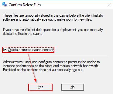ccmcacheフォルダ内のキャッシュファイルを削除する