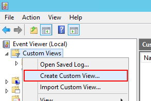 Create Custom View...をクリック。