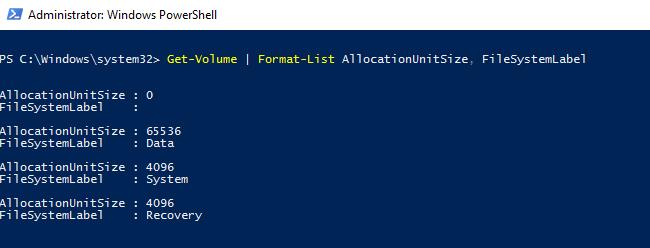 PowerShellなら1行ですべてのドライブのアロケーションユニットサイズを確認することができる