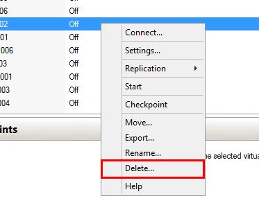 Replica VMも削除する必要がある