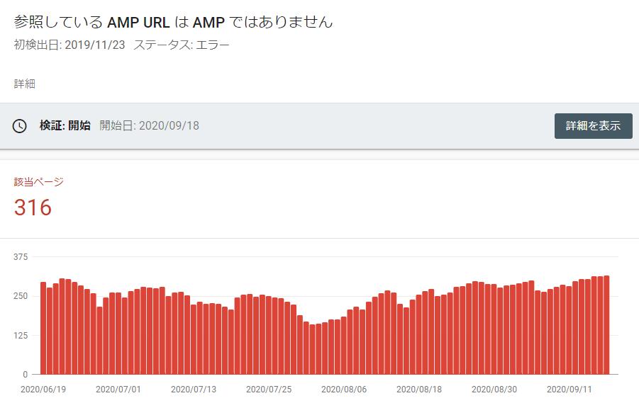 AMP非対応ページの統計が不規則になっているのはキャッシュが原因だから