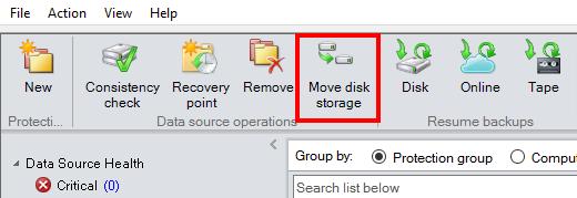 Move disk storageボタンでは一件ずつしか変更できない